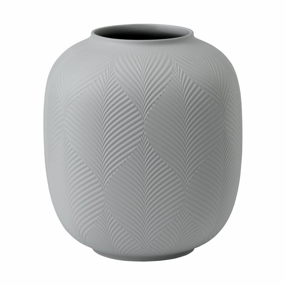 """Wedgwood Folia Jasper Rounded Vase Dove Grey 8.3"""""""