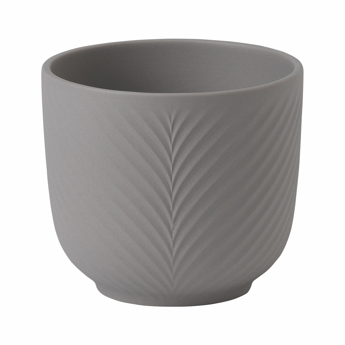 "Wedgwood Folia Jasper Plant Pot Mink 3.5"""