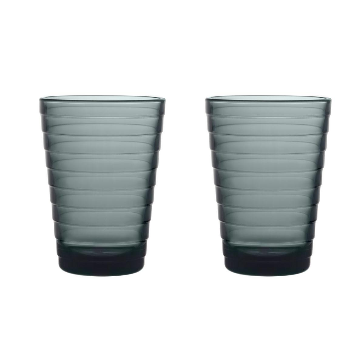 Iittala Designed By Aino Aalto Tumbler 11 Oz Dark Grey Pair