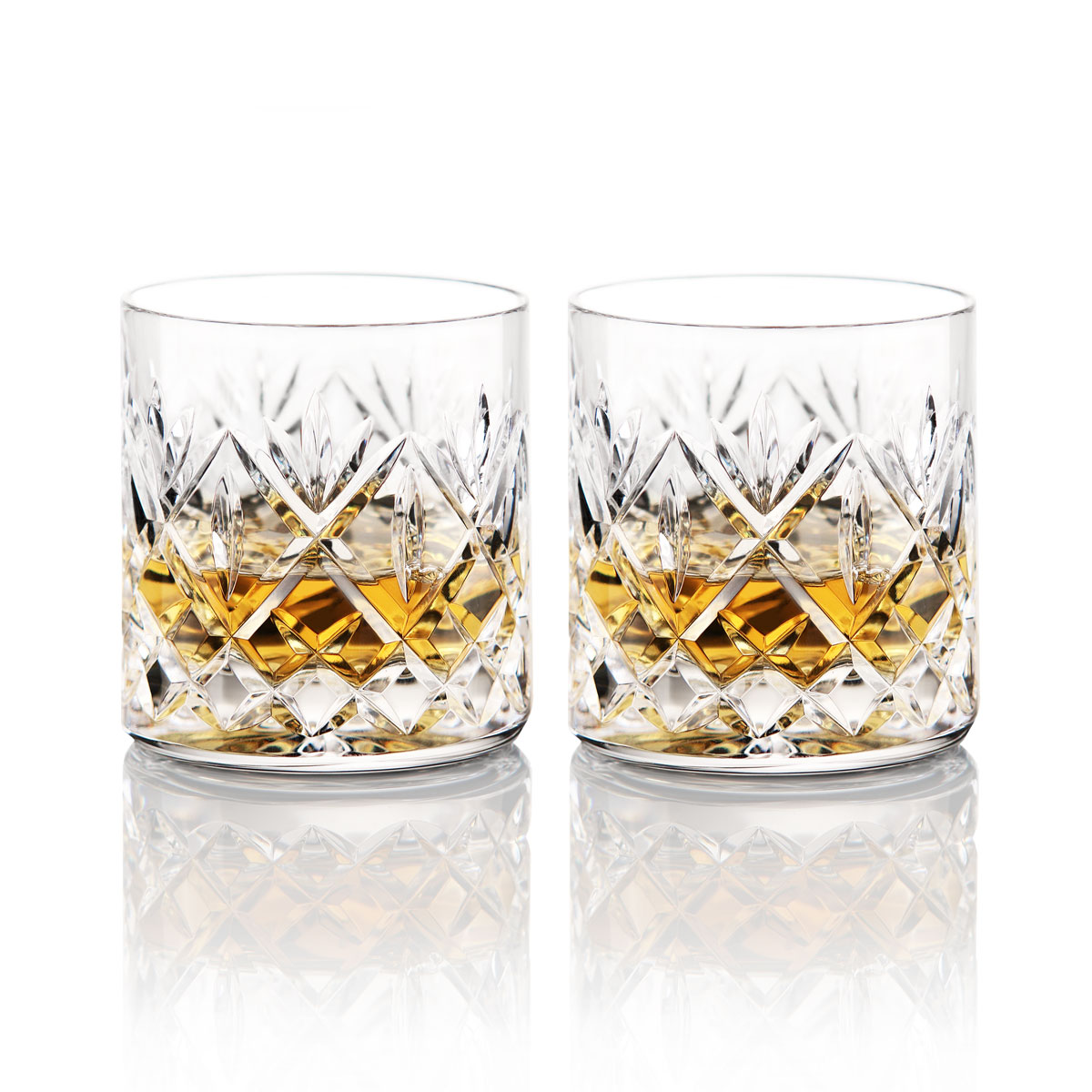 Waterford Crystal Huntley OF Straight Sided Whiskey Tumblers, Pair