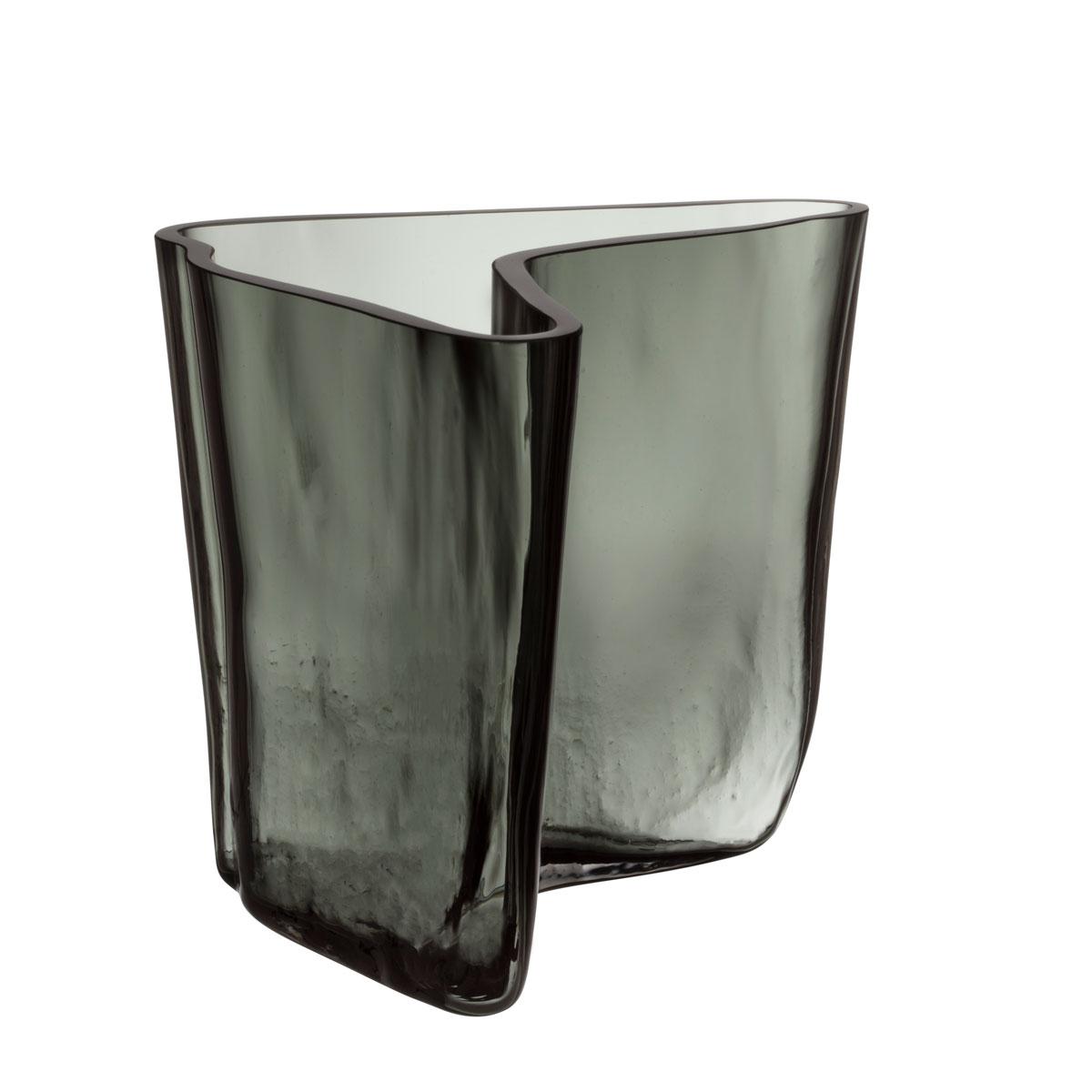 """Iittala Aalto Vase 6.75"""" Dark Grey"""