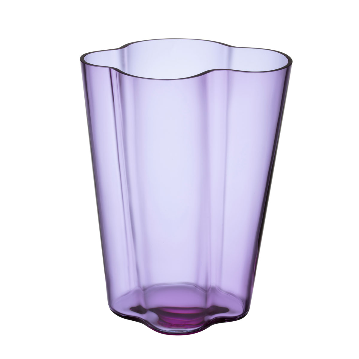 "Iittala Aalto Vase 10.5"" Amethyst"