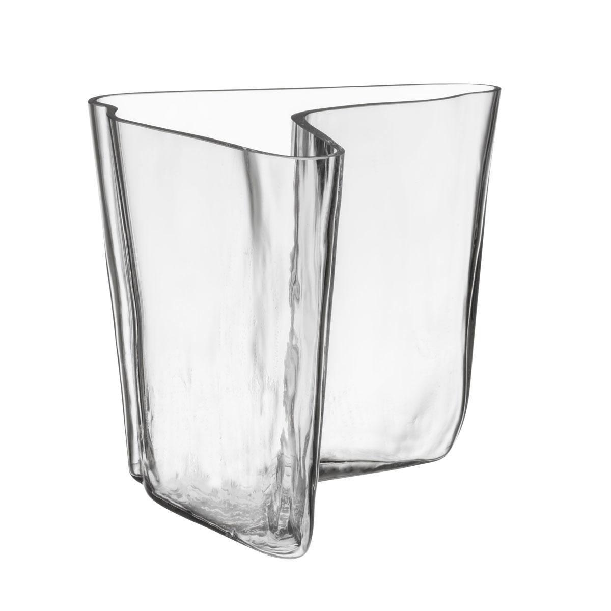 """Iittala Aalto Vase 6.75"""" Clear"""