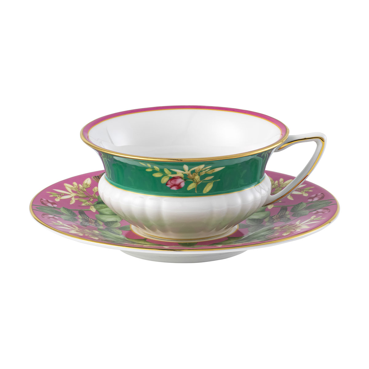 Wedgwood Wonderlust Pink Lotus Teacup and Saucer