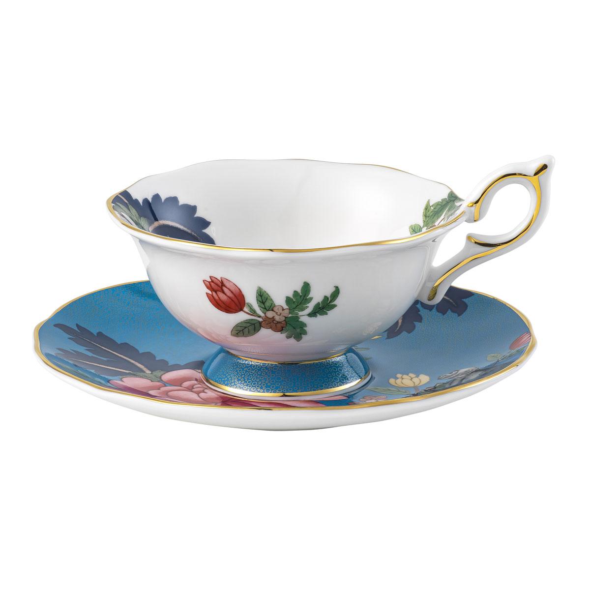 Wedgwood Wonderlust Sapphire Garden Teacup and Saucer