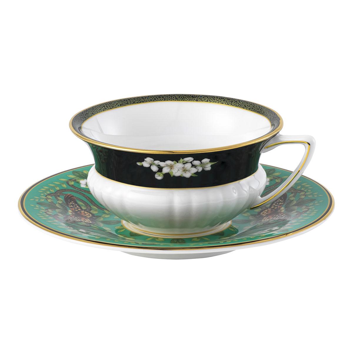 Wedgwood Wonderlust Emerald Forest Teacup and Saucer