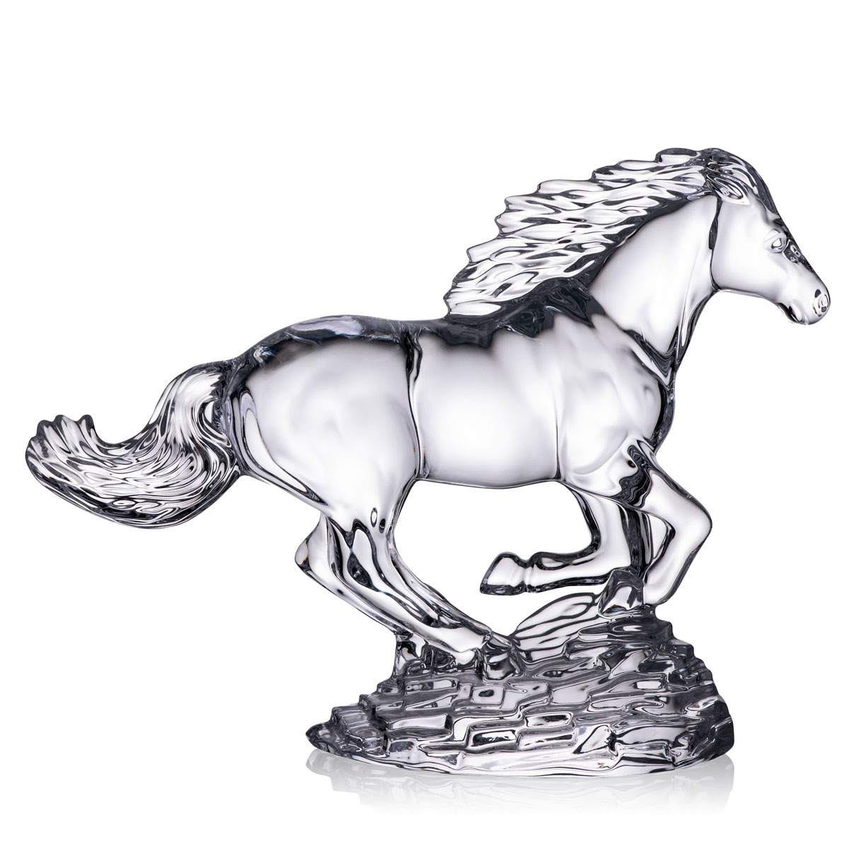 Waterford Crystal Running Horse Sculpture