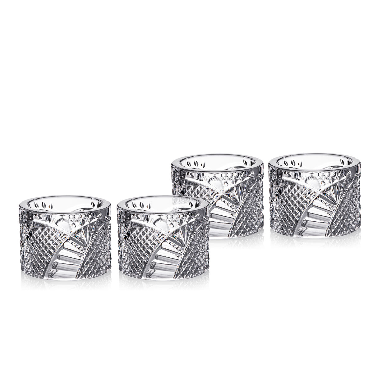 Waterford Crystal Seahorse Napkin Ring, Set of Four