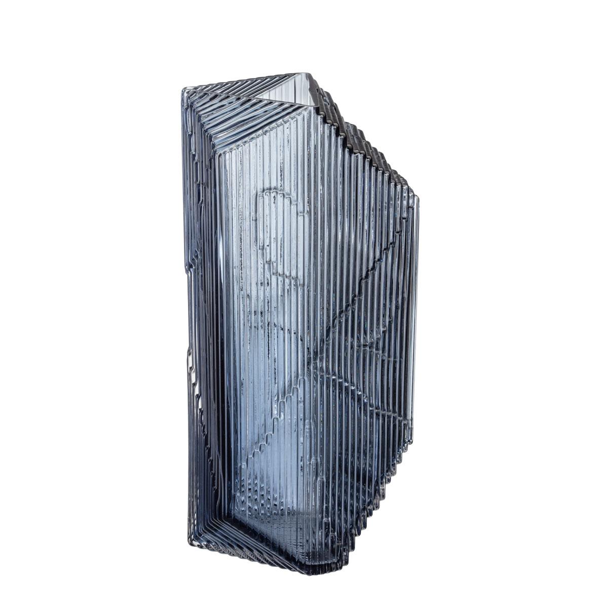"""Iittala Kartta Glass Sculpture 12.5"""" Rain"""