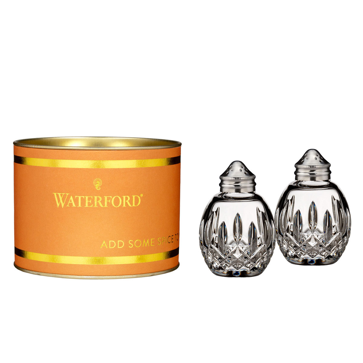 Waterford Giftology Lismore Round Crystal Salt and Pepper Set