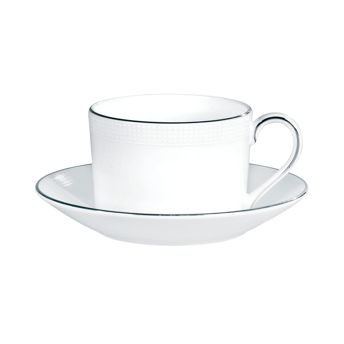 Vera Wang Wedgwood Blanc Sur Blanc Teacup and Saucer