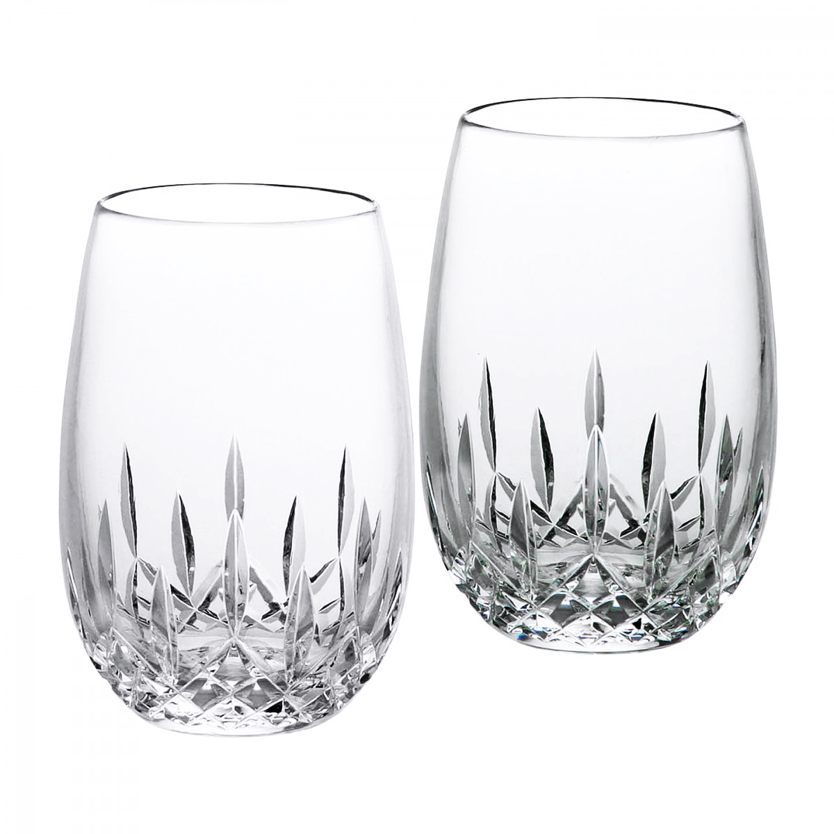 Waterford Crystal, Lismore Essence Stemless White Wine, Pair