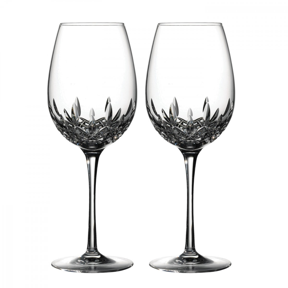 Waterford Lismore Essence Crystal Red Wine Goblet, Pair