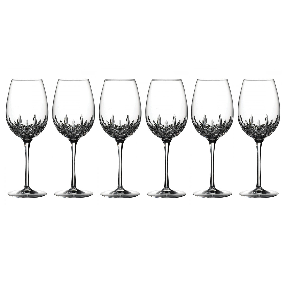Waterford Crystal, Lismore Essence Red Wine Crystal Goblets, Set of 5+1 Free