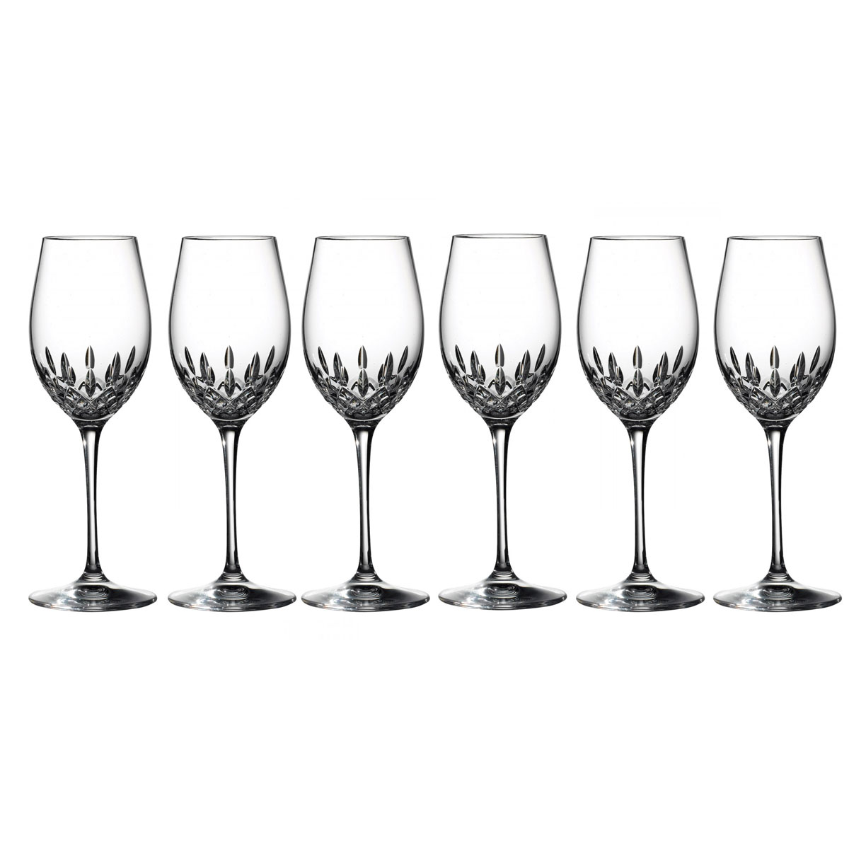 Waterford Lismore Essence Crystal White Wine, Set of 5+1 Free