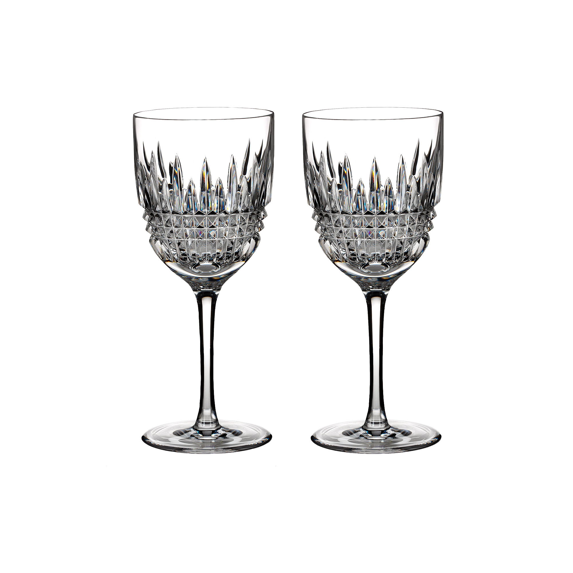 Waterford Crystal, Lismore Diamond Goblet, Red Wine, Pair