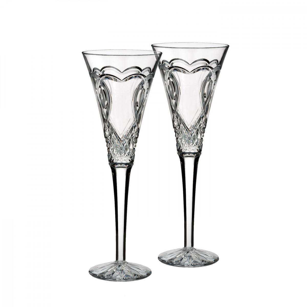 Waterford Crystal Wedding Toasting Flutes, Pair
