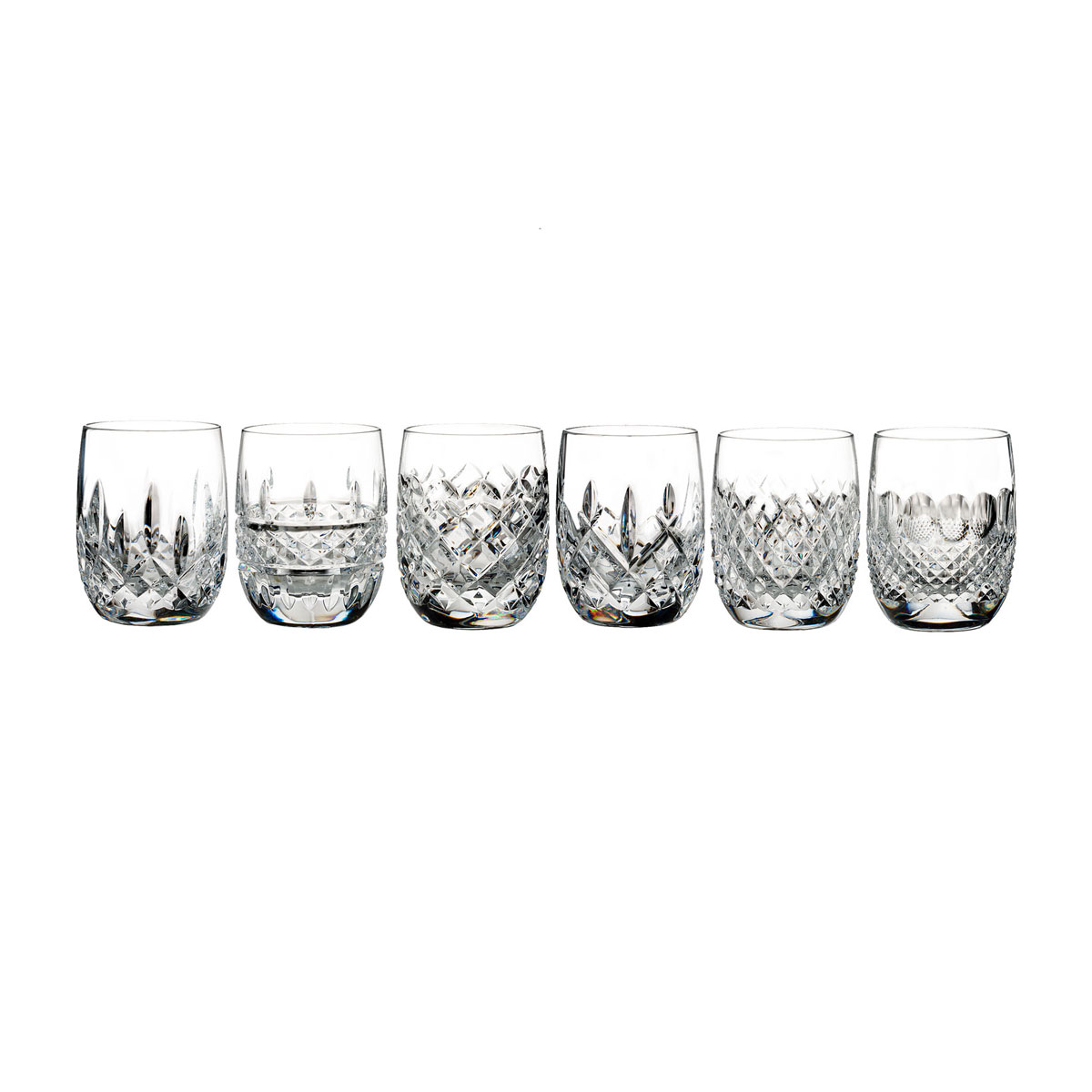 Waterford Crystal, Lismore Connoisseur Rounded Tumbler, Mixed Set of 6