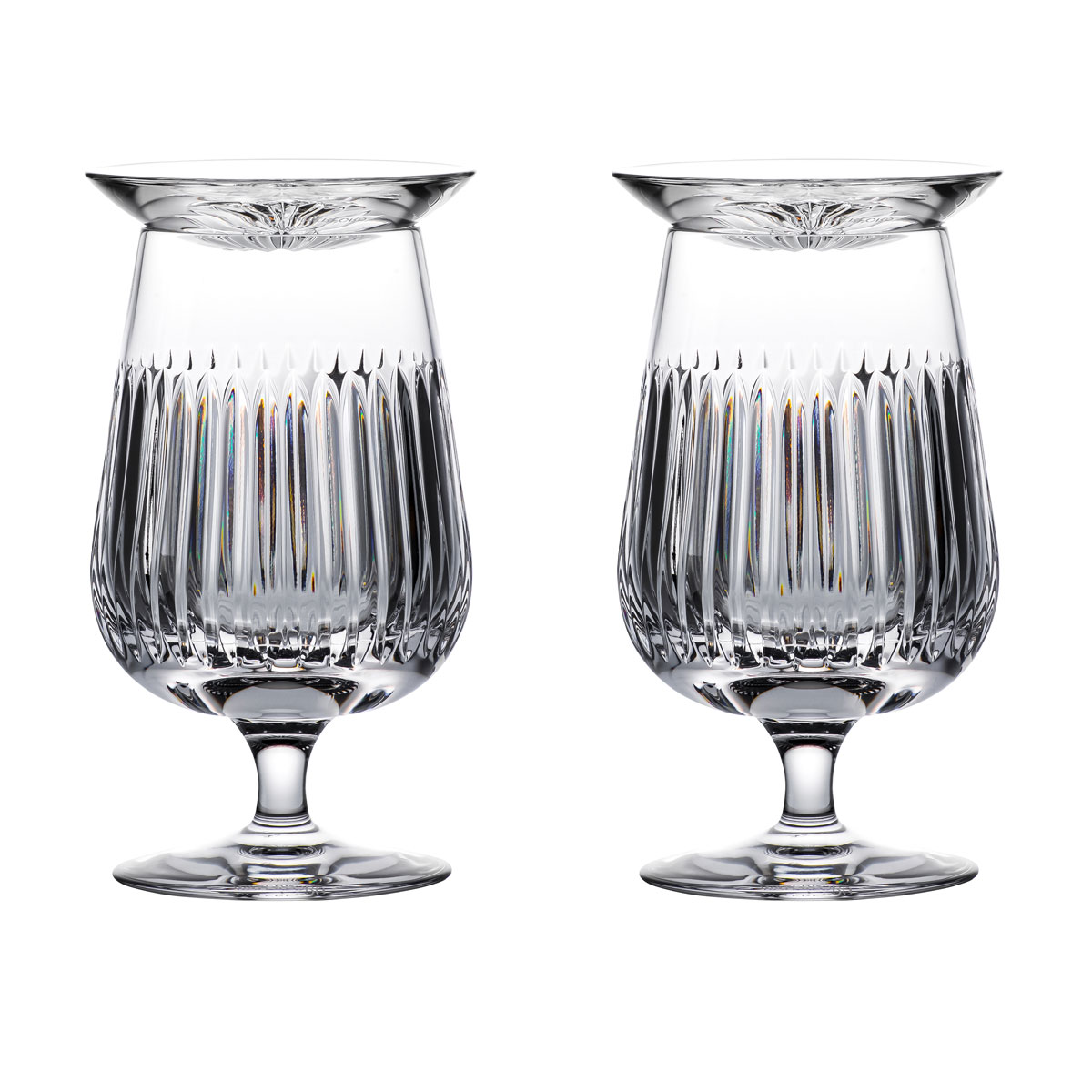 Waterford Crystal Connoisseur Aras Rum Snifters and Tasting Cap, Pair