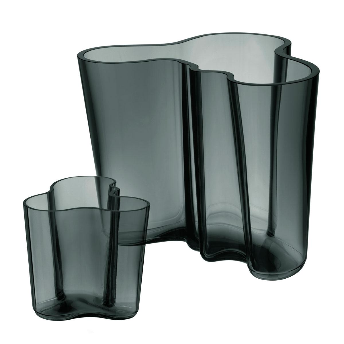 "Iittala Aalto Vase Set 6.25"" Dark Grey"