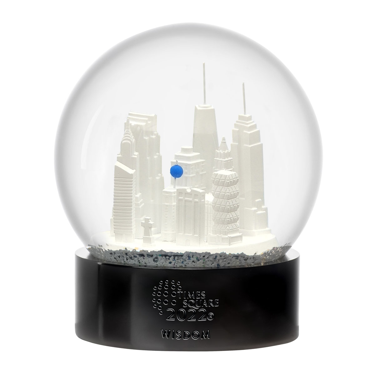 Waterford Crystal Times Square 2022 Gift of Wisdom Snow Globe