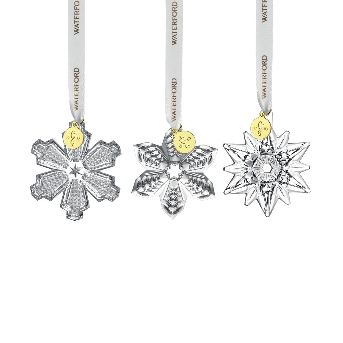 Waterford Crystal 2021 Mini Ornaments Set of Three
