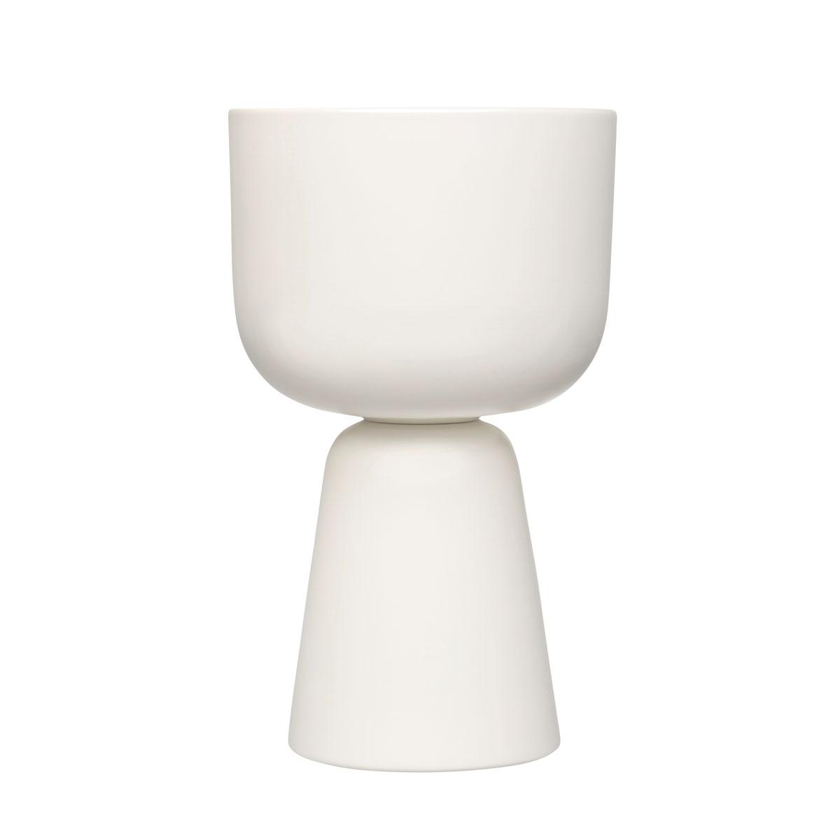 """Iittala Nappula Plant Pot White 12.5"""""""