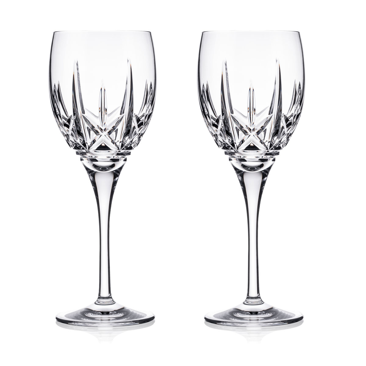 Waterford Crystal Eimer Wine Glasses, Pair