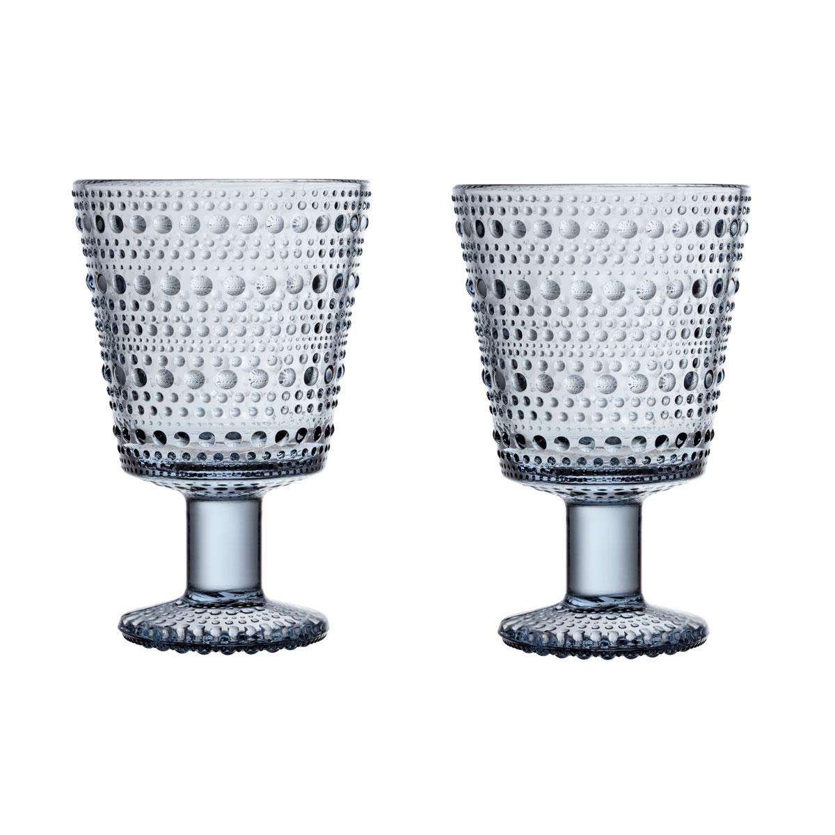 Iittala Kastehelmi Universal Glass 8.75 Oz Pair Recycled Edition