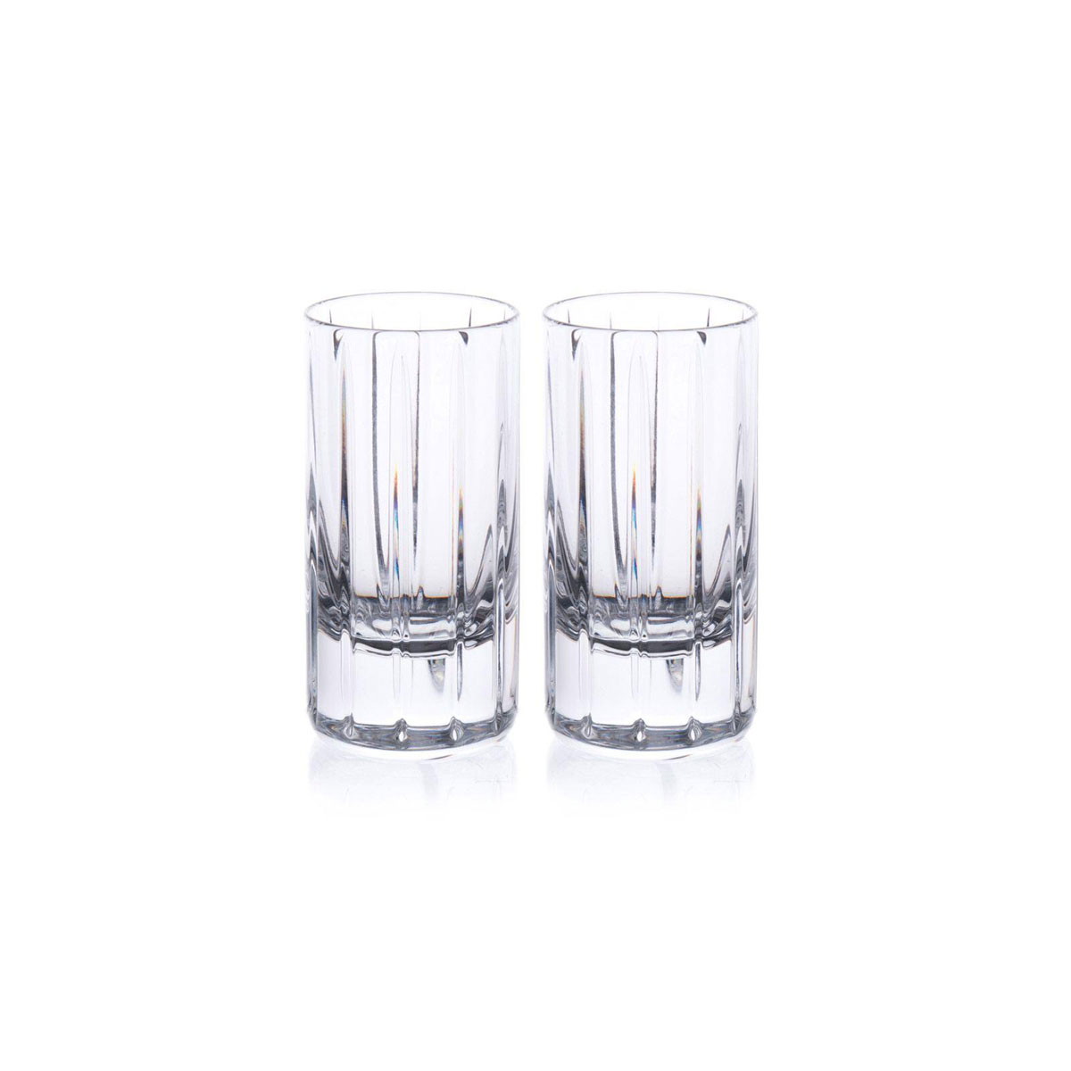 Rogaska Avenue Shot Glasses, Pair