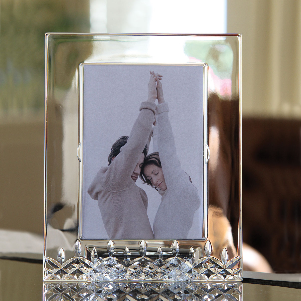 """Waterford Lismore Essence 5x7"""" Crystal Picture Frame"""