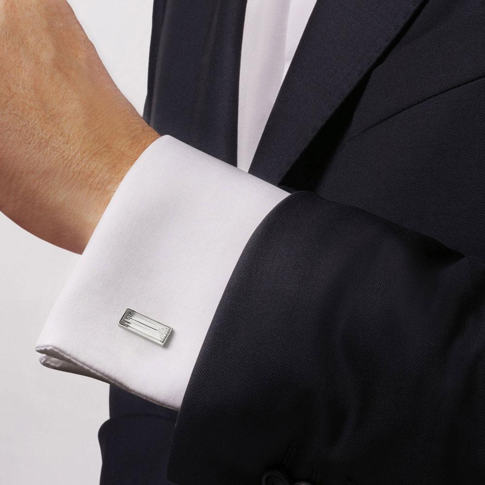 Lalique Rayonnante Cufflinks Pair, Clear