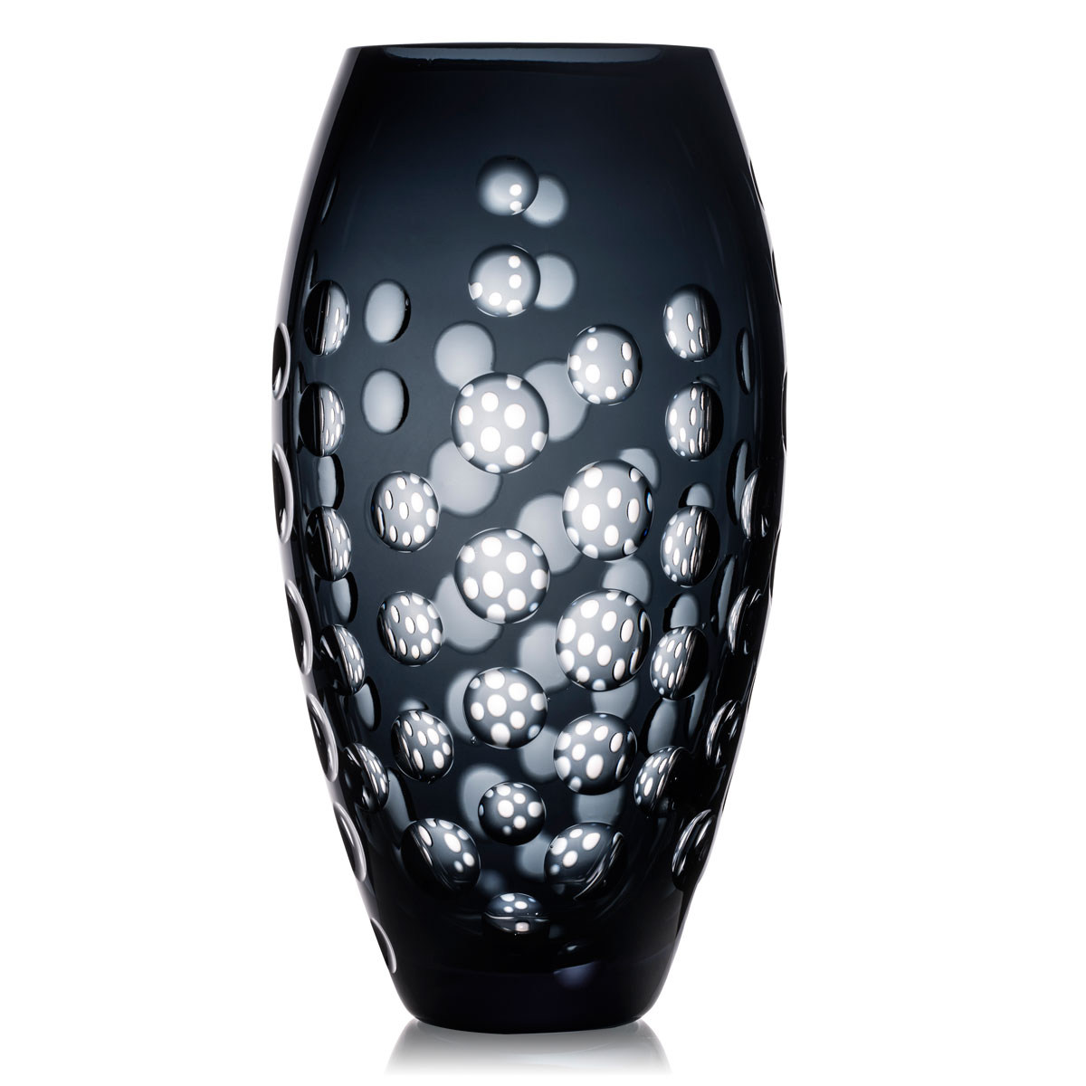 "Rogaska Madame Diaz Black 12"" Vase"