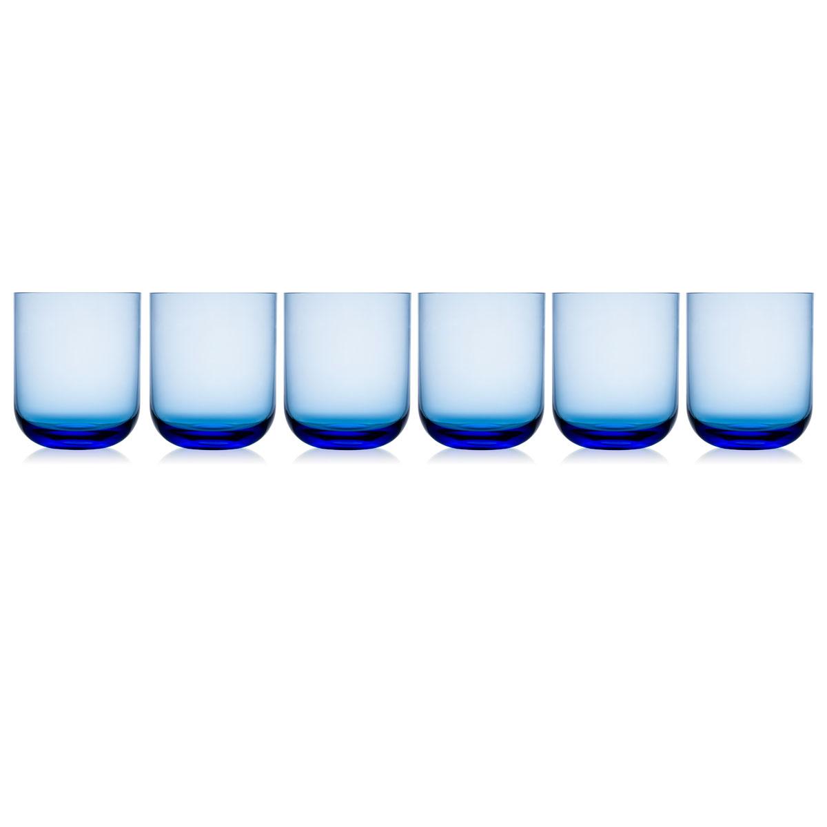 Rogaska Monaco Tumbler Blue Set of 6