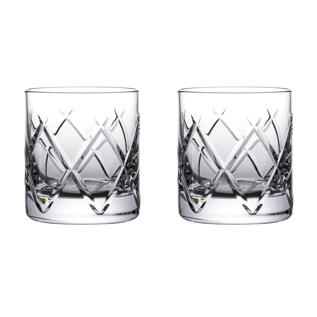 Waterford Crystal Connoisseur Olann Straight Tumbler 6oz. Pair