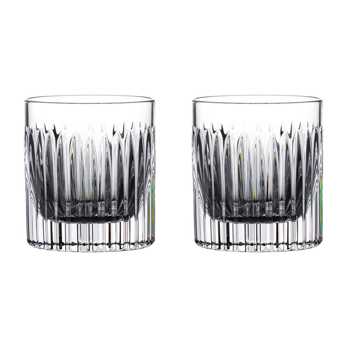 Waterford Crystal Connoisseur Aras Straight Tumbler 6oz. Pair