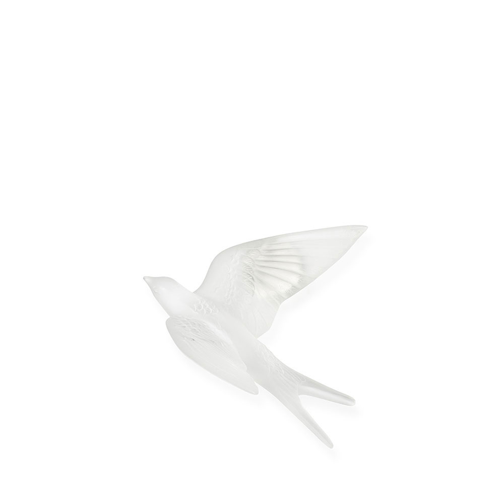 Lalique Hirondelles, Swallows with Wings Up Wall Sculpture
