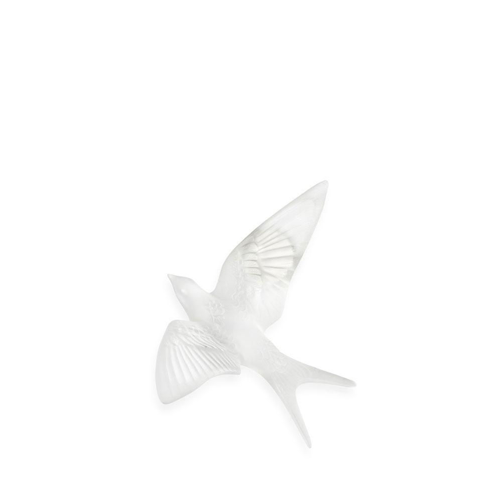 Lalique Hirondelles, Swallows Wall Sculpture, Clear