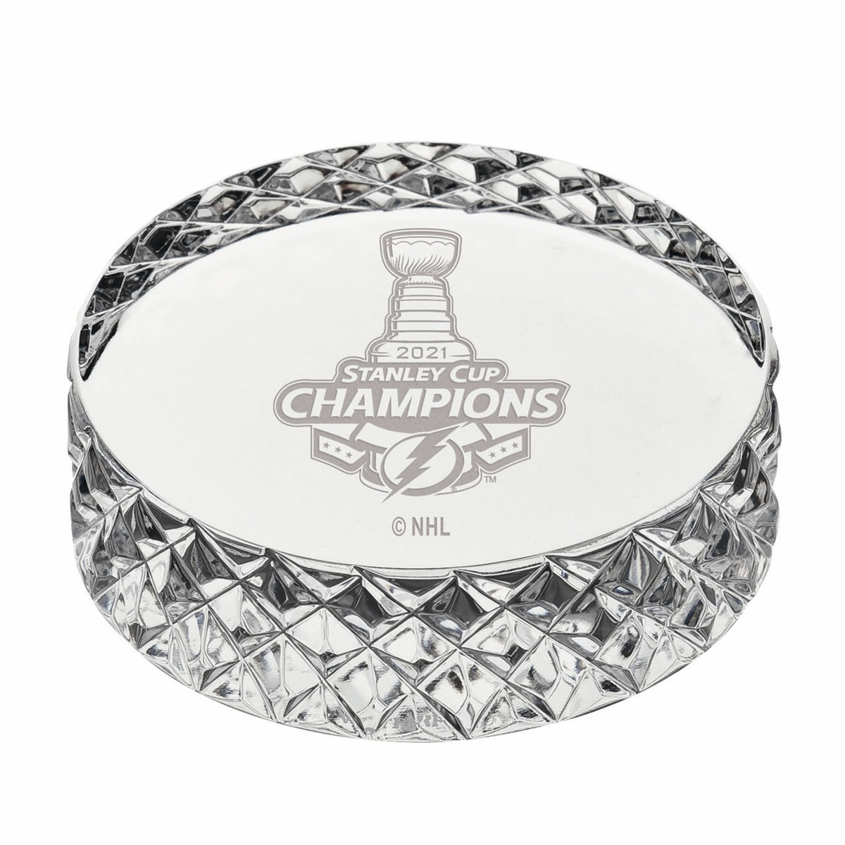 Waterford Crystal Tampa Bay NHL 2021 Stanley Cup Champs Hockey Puck
