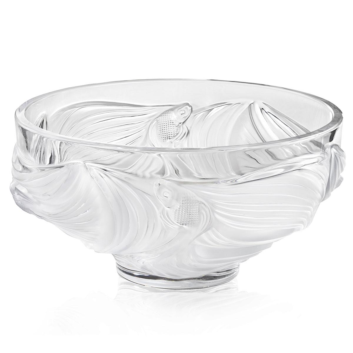 Lalique Poissons Combattants Aquatique Bowl