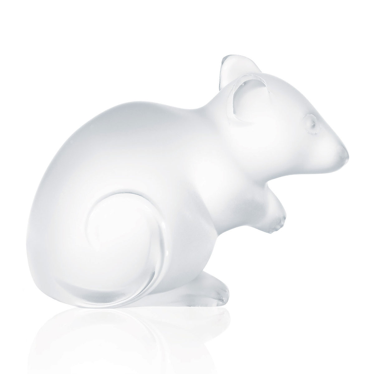 Lalique Mouse Sculpture, Clear