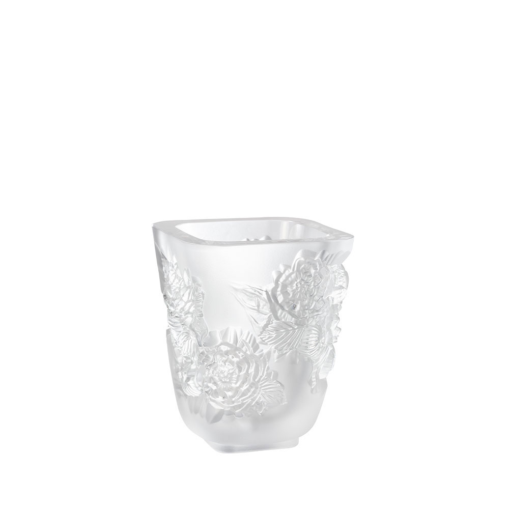 "Lalique Small Pivoines 5.5"" Vase"