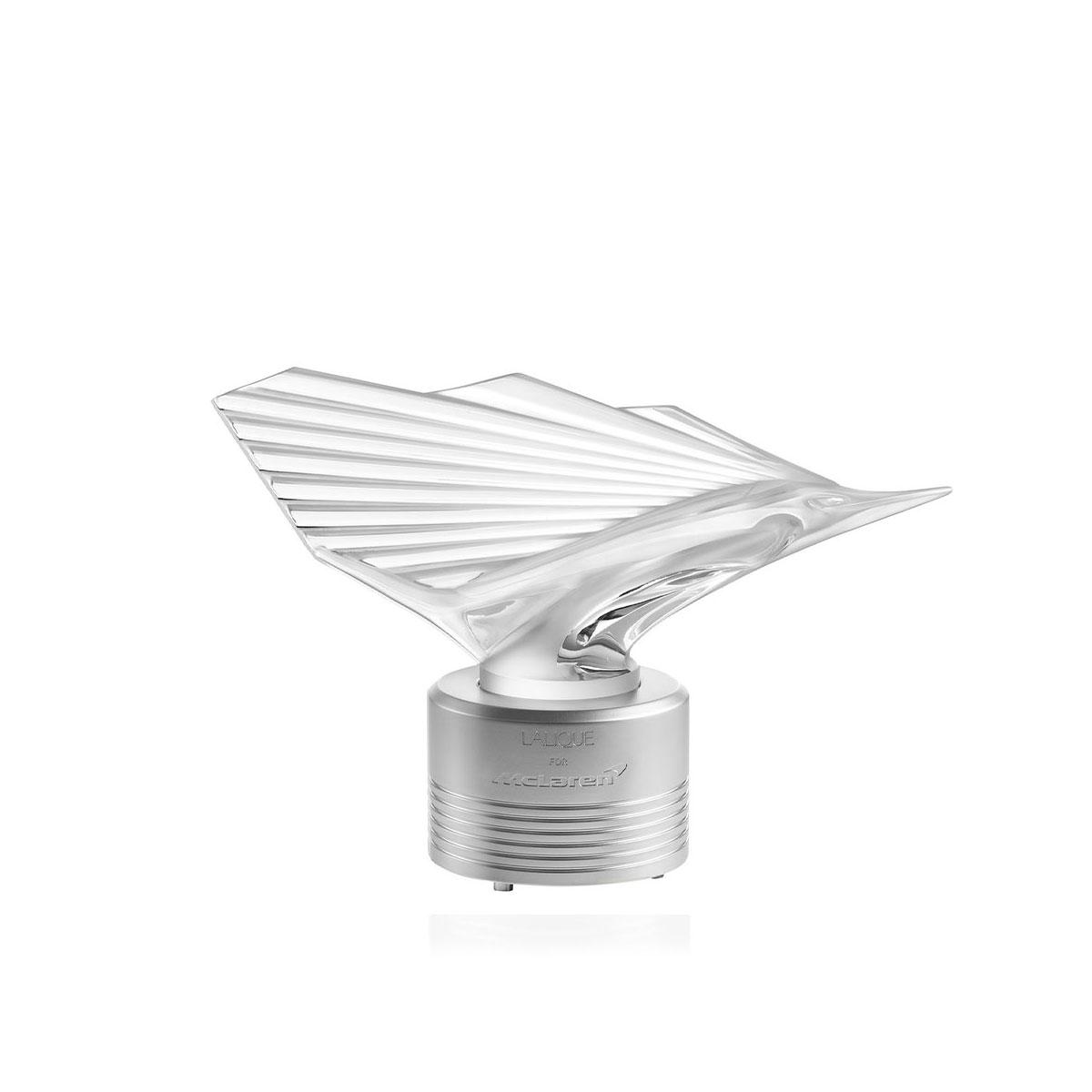 """Lalique McLaren Sailfish 12"""" Sculpture, Clear, Limited Edition"""
