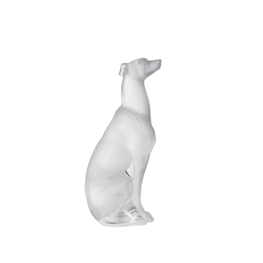 Lalique Greyhound Sculpture, Clear