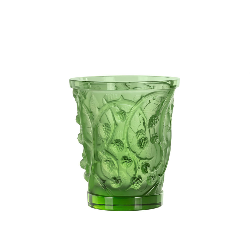 "Lalique Mures 10"" Vase, Green"