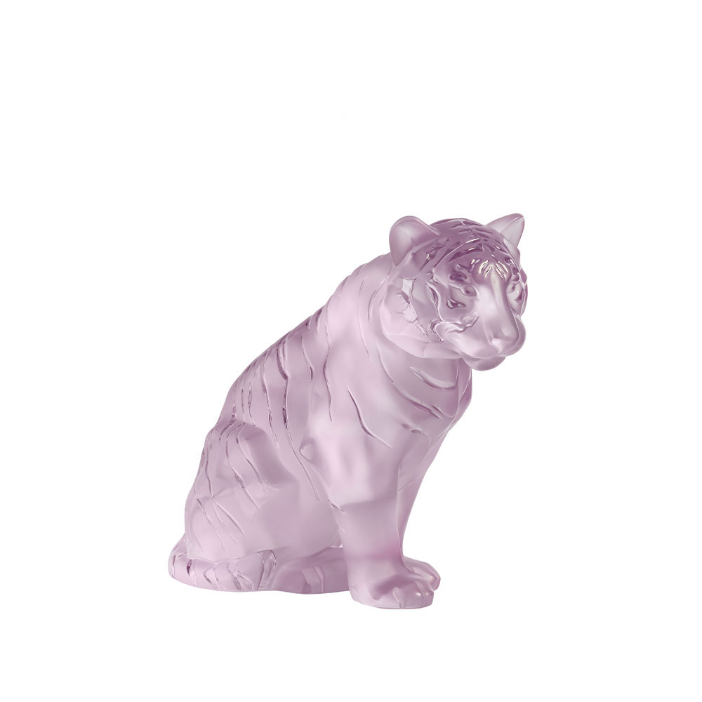 Lalique Pink Tiger, Grand Sculpture, Limited Edition