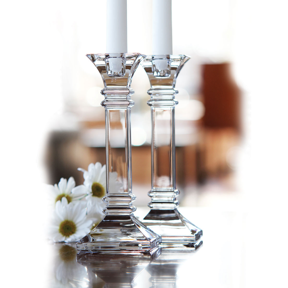 "Marquis by Waterford Crystal, Treviso 8"" Crystal Candlesticks, Pair"