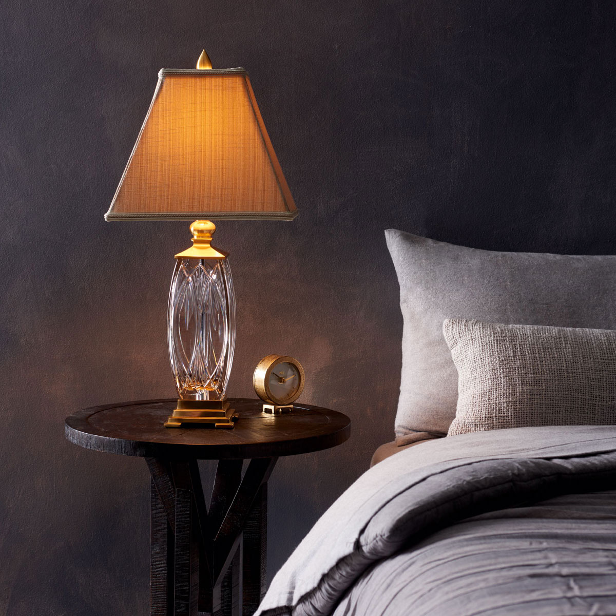"""Waterford Crystal, Finn 19"""" Accent Lamp"""