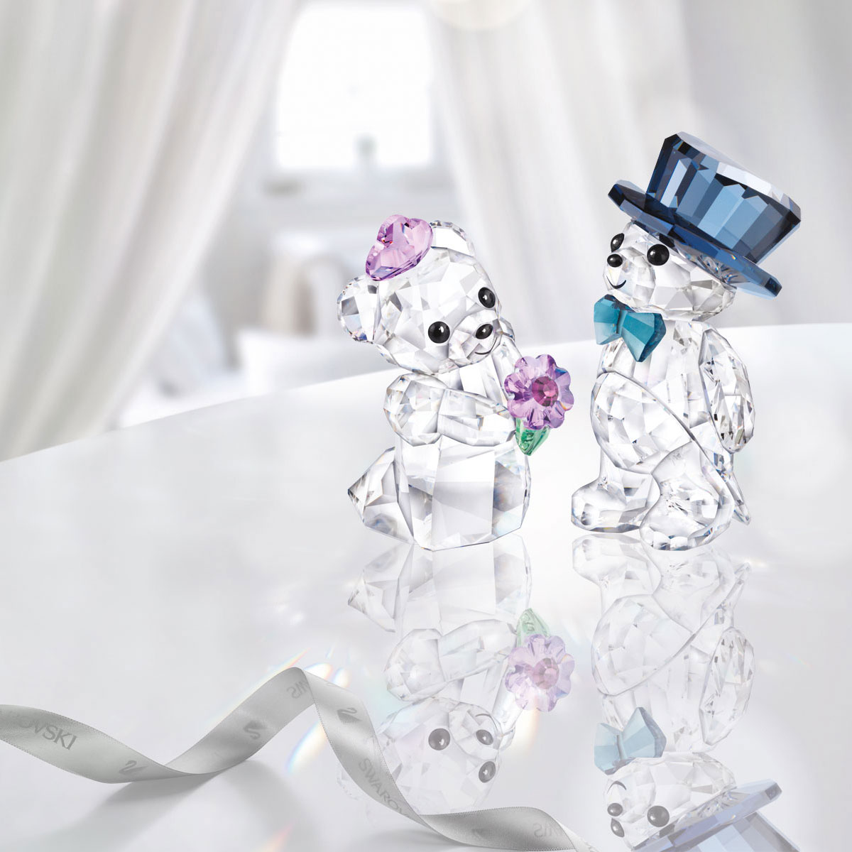 Swarovski Crystal Kris Bears You and I