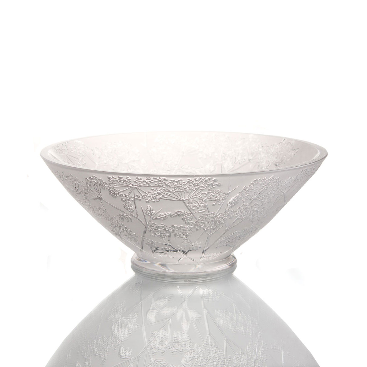 """Lalique Crystal, Umbels Ombelles 12"""" Crystal Bowl"""